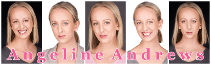 ANGELINE ANDREWS - Titled headshot montage